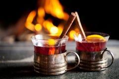 θερμαμένο κρασί Στοκ Εικόνες