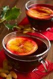 θερμαμένο κόκκινο κρασί Στοκ Φωτογραφίες
