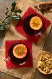 θερμαμένο κόκκινο κρασί Στοκ φωτογραφία με δικαίωμα ελεύθερης χρήσης