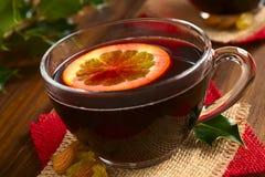 θερμαμένο κόκκινο κρασί Στοκ Εικόνα