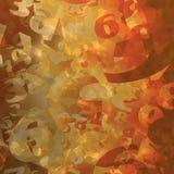 Θερμαμένο χρωματισμένο αφηρημένο υπόβαθρο αριθμού στοκ φωτογραφία με δικαίωμα ελεύθερης χρήσης