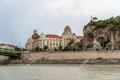 Θερμικές λουτρά Gellert και πισίνα στη Βουδαπέστη Στοκ Εικόνες