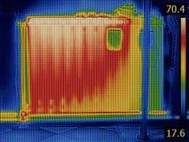 Θερμική εικόνα θερμαστρών θερμαντικών σωμάτων Στοκ Εικόνες