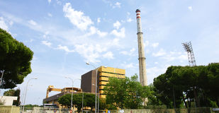 Θερμικός σταθμός παραγωγής ηλεκτρικού ρεύματος Foix Στοκ Εικόνα