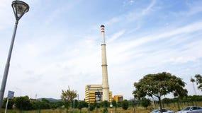 Θερμικός σταθμός παραγωγής ηλεκτρικού ρεύματος Foix Στοκ Εικόνες