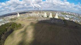 Θερμικός σταθμός παραγωγής ηλεκτρικού ρεύματος από τον αέρα Χρονικό σφάλμα απόθεμα βίντεο