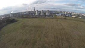 Θερμικός σταθμός παραγωγής ηλεκτρικού ρεύματος από τον αέρα απόθεμα βίντεο