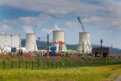 Θερμικός σταθμός παραγωγής ηλεκτρικού ρεύματος στη Δημοκρατία της Τσεχίας Στοκ Φωτογραφία
