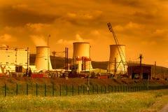 Θερμικός σταθμός παραγωγής ηλεκτρικού ρεύματος στη Δημοκρατία της Τσεχίας Στοκ εικόνα με δικαίωμα ελεύθερης χρήσης