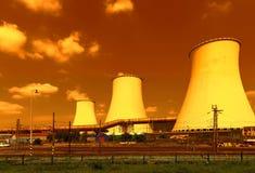Θερμικός σταθμός παραγωγής ηλεκτρικού ρεύματος στη Δημοκρατία της Τσεχίας Στοκ φωτογραφία με δικαίωμα ελεύθερης χρήσης