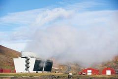 Θερμικός σταθμός παραγωγής ηλεκτρικού ρεύματος Geo Στοκ Φωτογραφίες