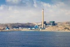 Θερμικός σταθμός παραγωγής ηλεκτρικού ρεύματος Litoral: Carboneras εγκαταστάσεις παραγωγής ενέργειας Στοκ Φωτογραφίες