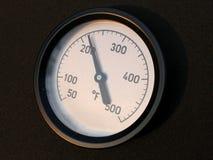 θερμοκρασία μετρητών στοκ εικόνα