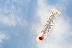 θερμοκρασία πτώσης στοκ φωτογραφία