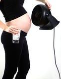 Θερμοκρασία σώματος και καυτή λάμψη κατά τη διάρκεια της εγκυμοσύνης στοκ εικόνα με δικαίωμα ελεύθερης χρήσης