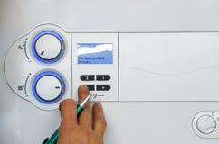 θερμοστάτης υδραυλικών Στοκ Εικόνες