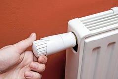 Θερμοστατικό θερμαντικό σώμα ρυθμιστών θερμοκρασίας Στοκ φωτογραφία με δικαίωμα ελεύθερης χρήσης