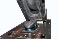 Θερμο παπούτσια Τύπου Συνδέοντας πέλματα κάτω από τη θερμική θέρμανση Στοκ εικόνα με δικαίωμα ελεύθερης χρήσης