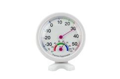Θερμο-υγρόμετρο κύκλων Στοκ φωτογραφία με δικαίωμα ελεύθερης χρήσης