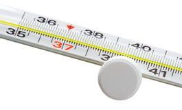 θερμόμετρο θερμοκρασίας υδραργύρου ελέγχου αέρα στοκ φωτογραφία