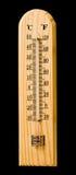 θερμόμετρο ξύλινο Στοκ φωτογραφίες με δικαίωμα ελεύθερης χρήσης