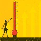 Θερμόμετρο στόχου Στοκ Φωτογραφίες