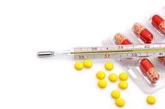 θερμόμετρο φαρμάκων Στοκ Εικόνες