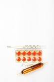 θερμόμετρο χαπιών καψών φια Στοκ εικόνα με δικαίωμα ελεύθερης χρήσης