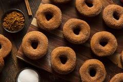 Θερμός μηλίτης Donuts της Apple Στοκ φωτογραφία με δικαίωμα ελεύθερης χρήσης