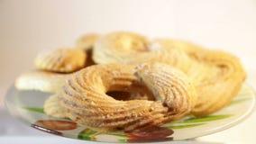 Θερμός, χρυσός καφετής, ψύξη μπισκότων τσιπ σοκολάτας απόθεμα βίντεο