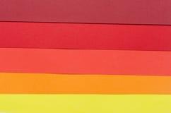 Θερμός-χρωματισμένα λωρίδες εγγράφου κατασκευής Στοκ εικόνες με δικαίωμα ελεύθερης χρήσης
