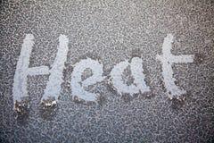 Θερμότητα που γράφεται στον πάγο Στοκ φωτογραφίες με δικαίωμα ελεύθερης χρήσης