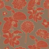 Θερμό ιαπωνικό όμορφο κόκκινο floral σχέδιο απεικόνιση αποθεμάτων