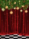 θερμό παράθυρο ύπνων βασικών στρωματοειδών φλεβών ονείρου Χριστουγέννων γατών Στοκ Εικόνες