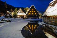 Θερμό σπίτι στο χωριό Shirakawa Στοκ φωτογραφία με δικαίωμα ελεύθερης χρήσης