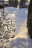 Θερμ.-de-σάκος με τη φρέσκια αφή χιονιού Στοκ φωτογραφία με δικαίωμα ελεύθερης χρήσης