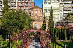 10 03 2018 Θεσσαλονίκη, Ελλάδα - εκκλησία Panteleimon επιβαρύνσεων στο θόριο Στοκ εικόνες με δικαίωμα ελεύθερης χρήσης