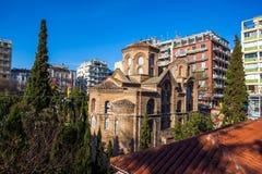 10 03 2018 Θεσσαλονίκη, Ελλάδα - εκκλησία Panteleimon επιβαρύνσεων στο θόριο Στοκ φωτογραφίες με δικαίωμα ελεύθερης χρήσης