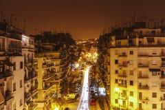 Θεσσαλονίκη τή νύχτα στοκ φωτογραφία