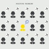 Θετική έννοια σκέψης Έρευνα του ταλέντου Αναζήτηση του busine Στοκ Φωτογραφίες