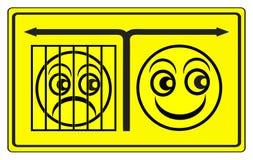 Θετική ή αρνητική σκέψη Στοκ Εικόνα