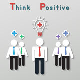 Θετική επιχειρησιακή έννοια ομαδικής εργασίας σκέψης Στοκ Εικόνες