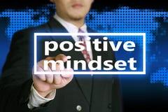 Θετική νοοτροπία, κινητήρια έννοια αποσπασμάτων λέξεων στοκ φωτογραφία