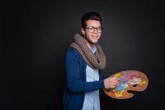 Θετική παλέτα χρώματος εκμετάλλευσης καλλιτεχνών Στοκ φωτογραφία με δικαίωμα ελεύθερης χρήσης