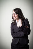 Θετική όμορφη νέα επιχειρηματίας Στοκ εικόνα με δικαίωμα ελεύθερης χρήσης