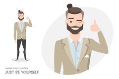 Θετικός τύπος που χαμογελά και που συστήνεται Στοκ Εικόνες