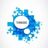 Θετικό σύννεφο σκέψης Στοκ εικόνα με δικαίωμα ελεύθερης χρήσης