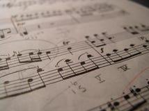 θεωρία μουσικής 101 Στοκ Εικόνες