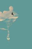 Θεϊκά μπαλόνια και πουλί Στοκ Εικόνα