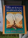 Θεϊκός της Χαβάης καφές στο μεγάλο νησί στοκ φωτογραφία